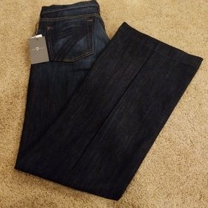 NWT! 7 for all mankind Blue Flare Leg Jeans